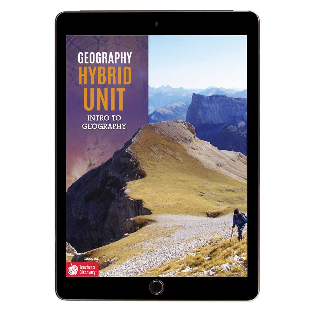 Geography Hybrid Unit: Intro to Geography Download - Hybrid Learning Resource