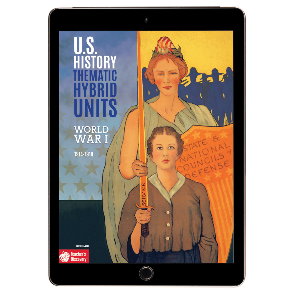 U.S. History Thematic Hybrid Unit: World War I Download