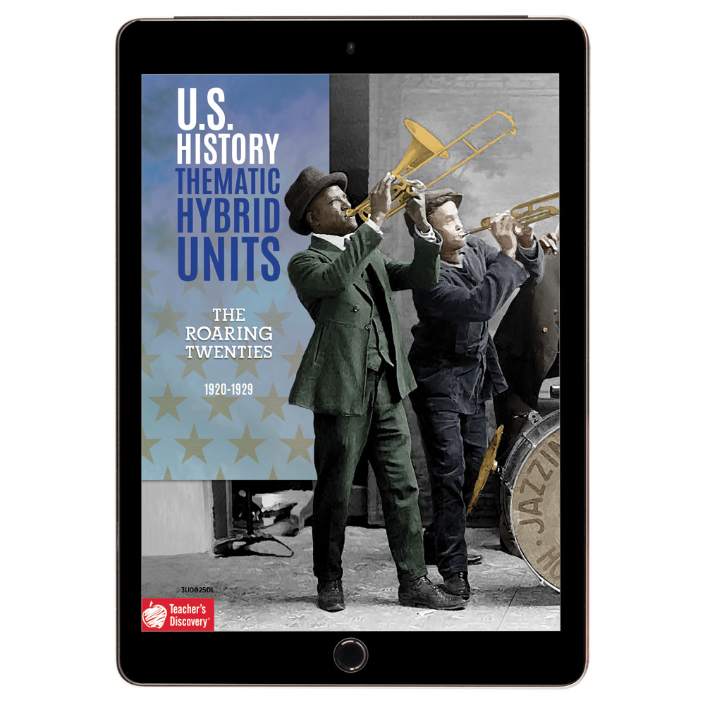 U.S. History Thematic Hybrid Unit: The Roaring Twenties Download - Hybrid Learning Resource