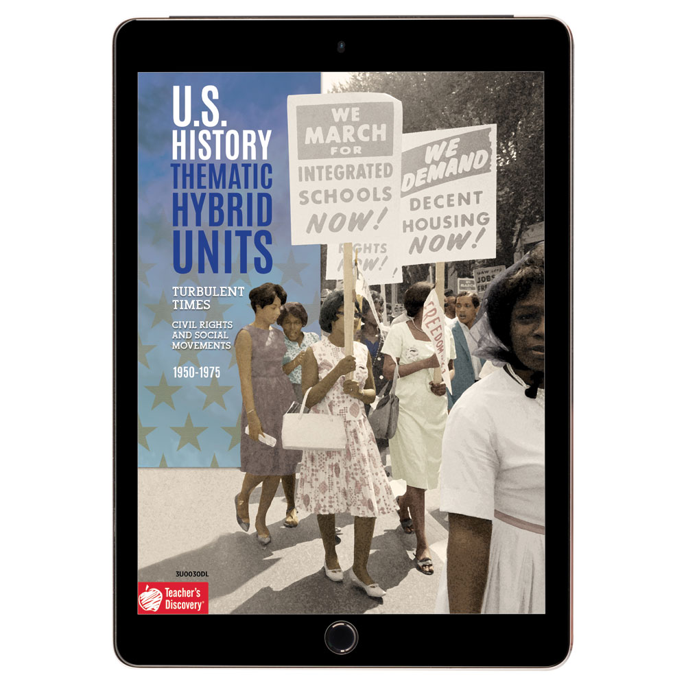 U.S. History Thematic Hybrid Unit: Turbulent Times (Civil Rights and Social Movements) Download