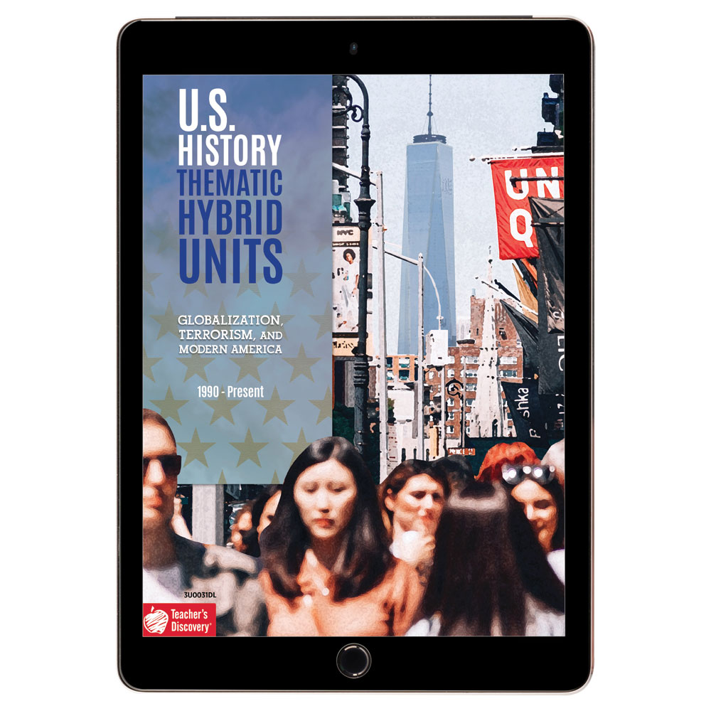 U.S. History Thematic Hybrid Unit: Globalization, Terrorism, and Modern America Download - Hybrid Learning Resource