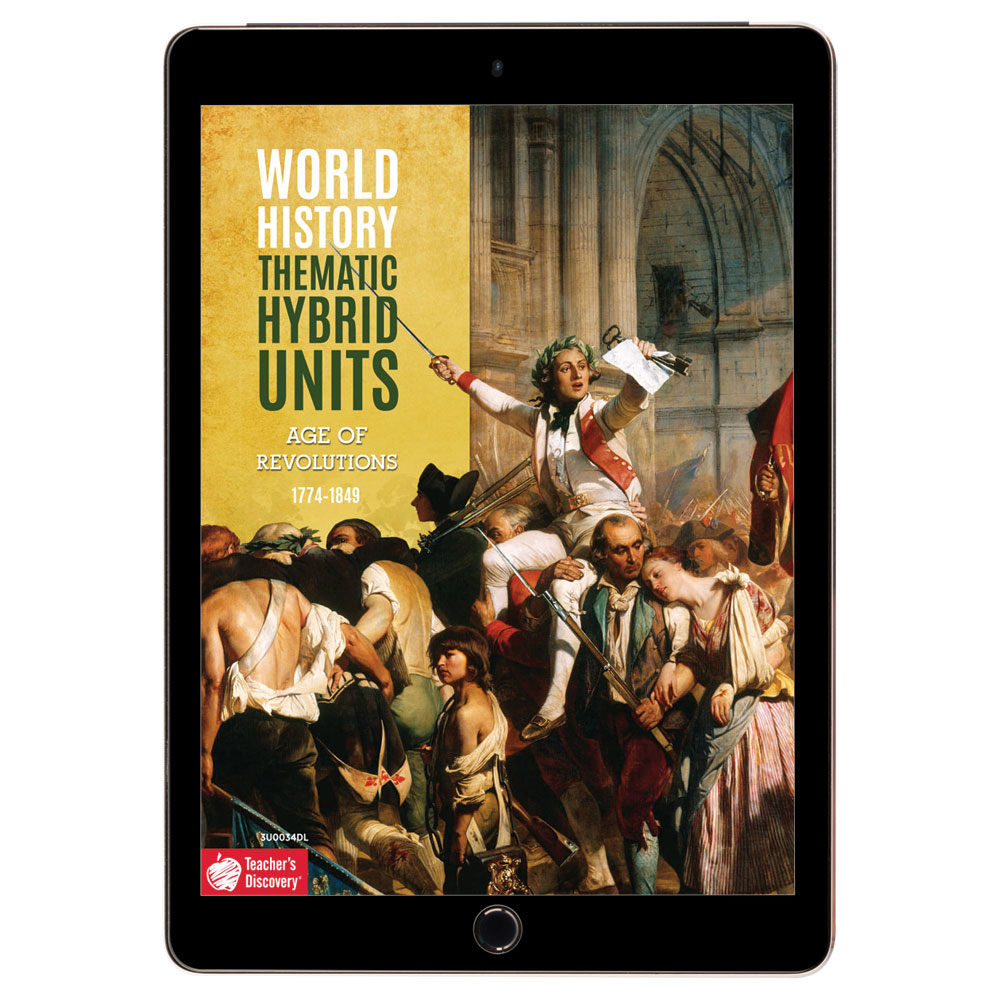 World History Thematic Hybrid Unit: Age of Revolutions Download - Hybrid Learning Resource