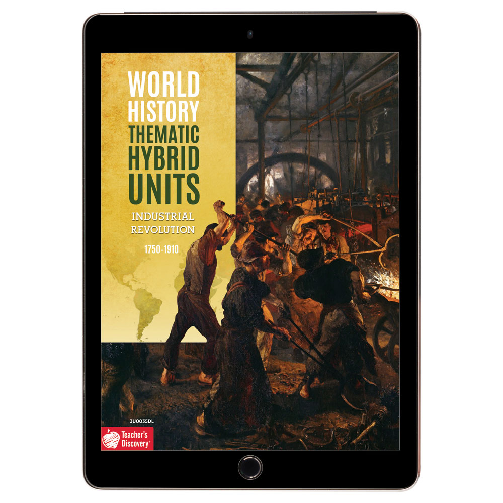 World History Thematic Hybrid Unit: Industrial Revolution Download - Hybrid Learning Resource