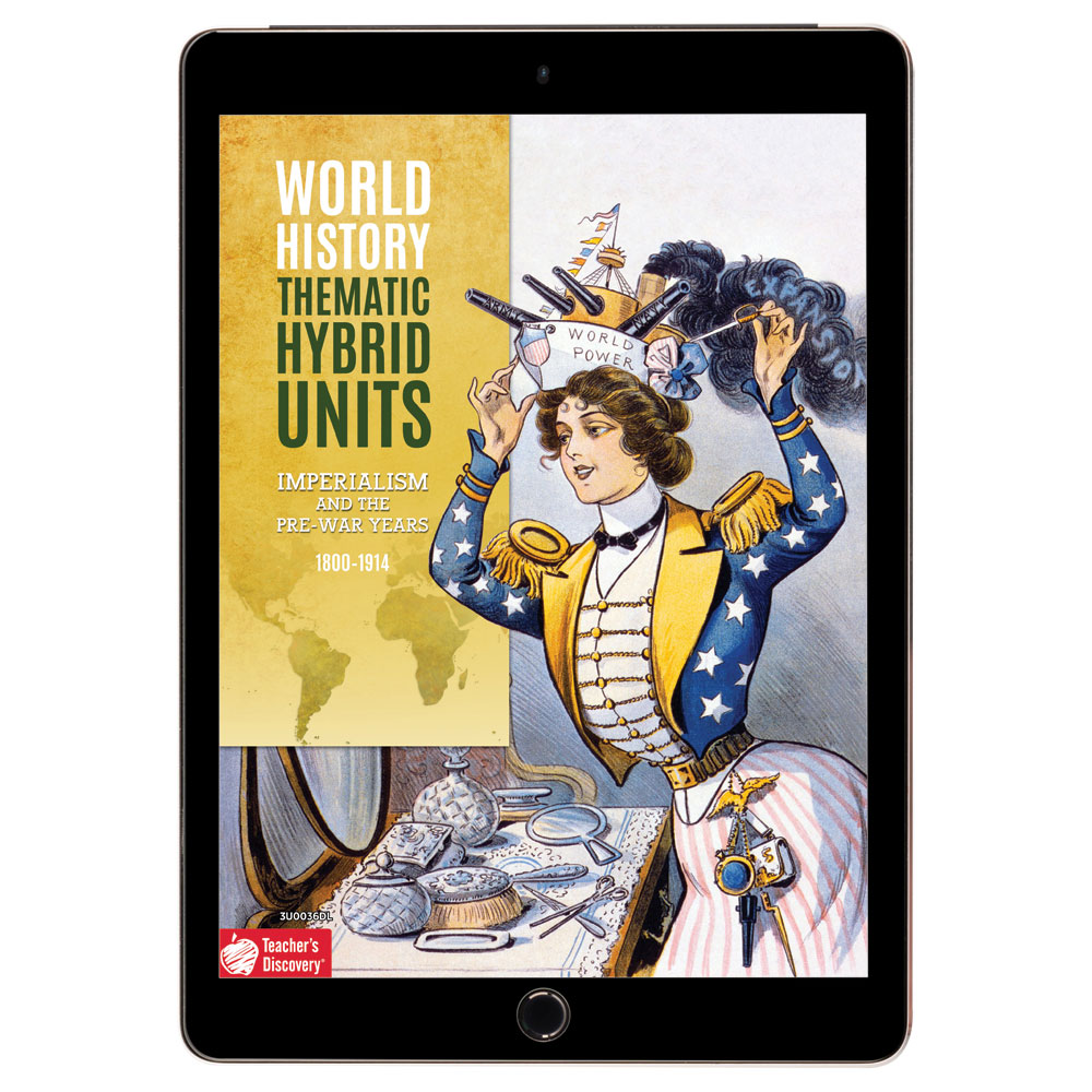 World History Thematic Hybrid Unit: Imperialism and the Pre-War Years Download - Hybrid Learning Resource