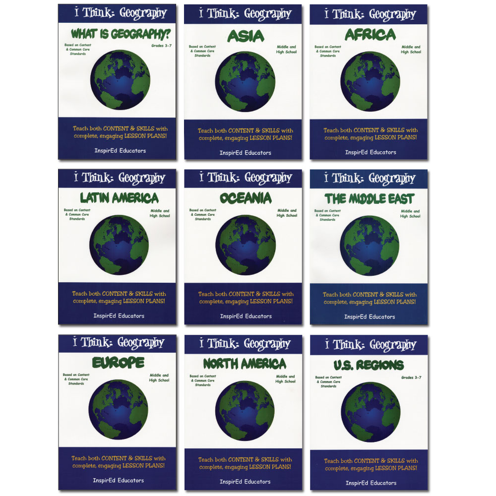 i Think: Geography, Regions of the World Activity Book Set of 9 Books