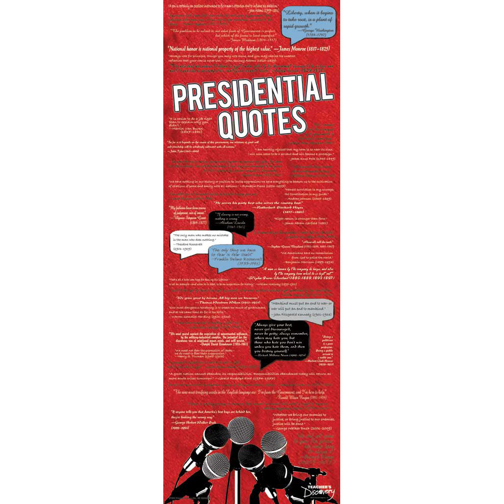 Presidential Quotes Skinny Poster