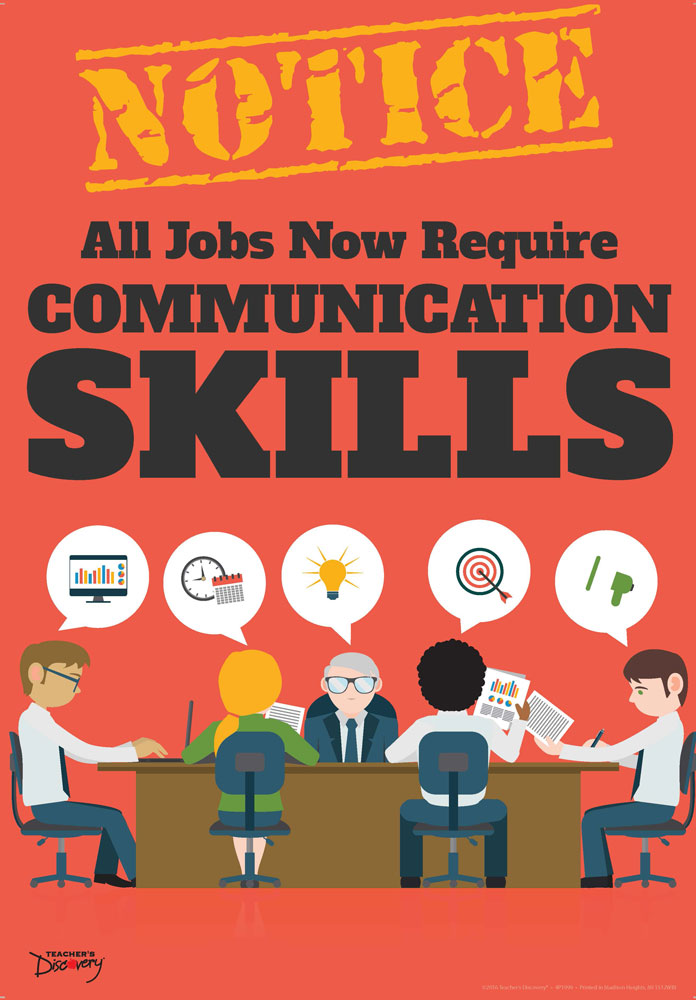 Official Notice Job Skills Mini-Poster:  Communication Skills