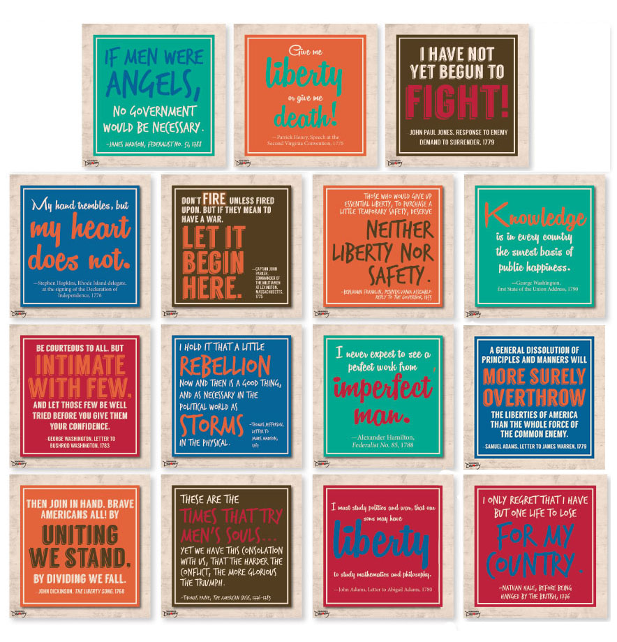Wise Words of the Founders Mini-Poster Set of 16