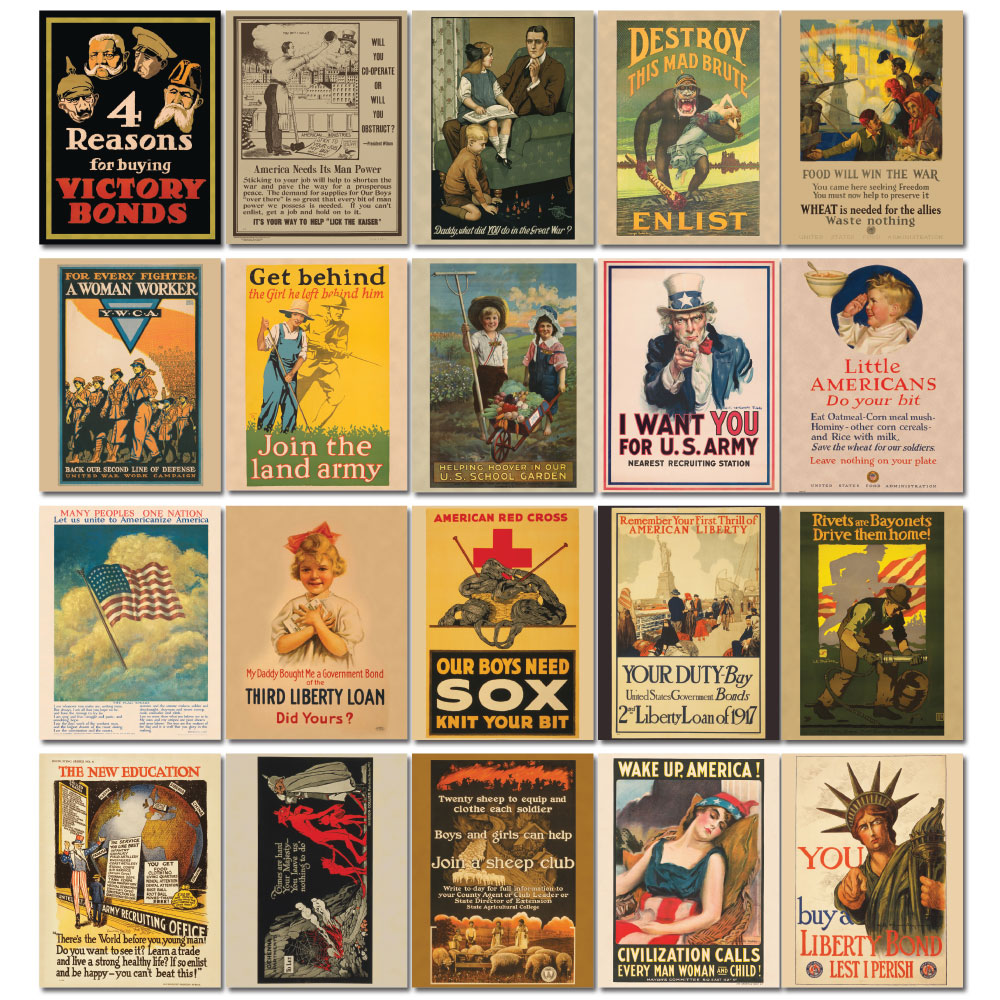 World War I Propaganda Mini-Poster Set