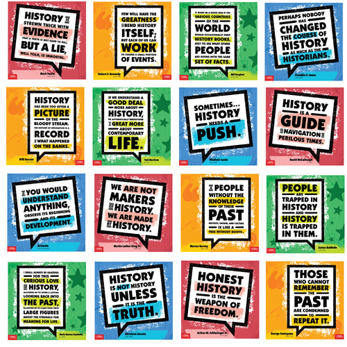 Historians on History Mini-Poster Set of 16