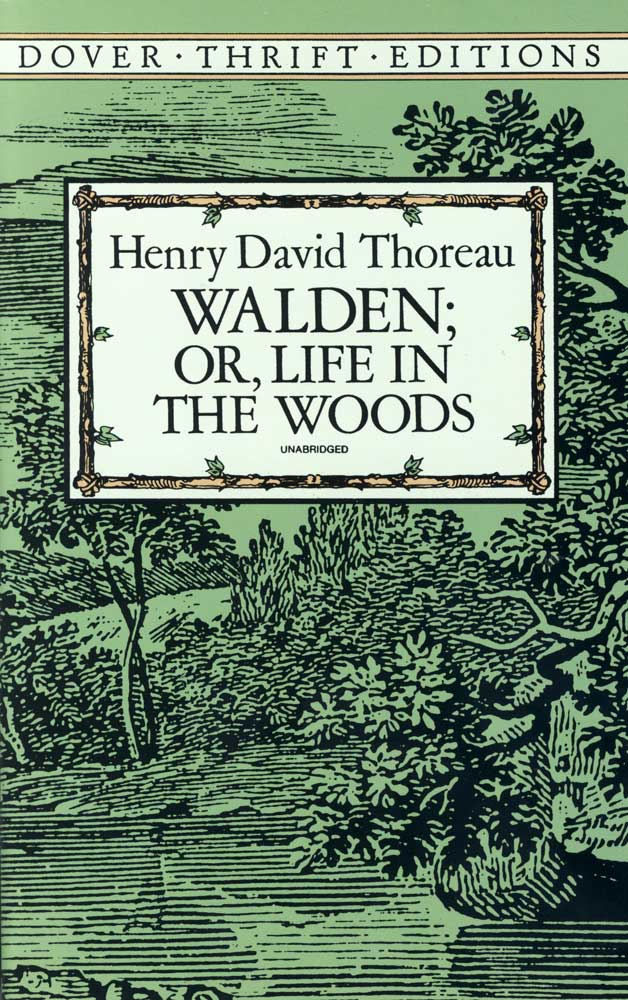 Walden Or Life In The Woods Paperback Book (1360L)