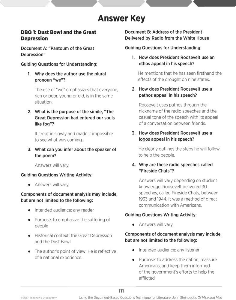 worksheet Of Mice And Men Movie Worksheet using the document based questions technique for literature john of mice and men enlarge image