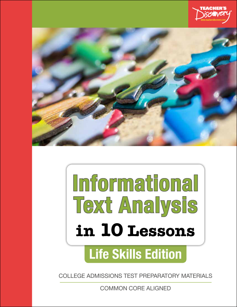 Informational Text Analysis in 10 Lessons: Life Skills Edition Book
