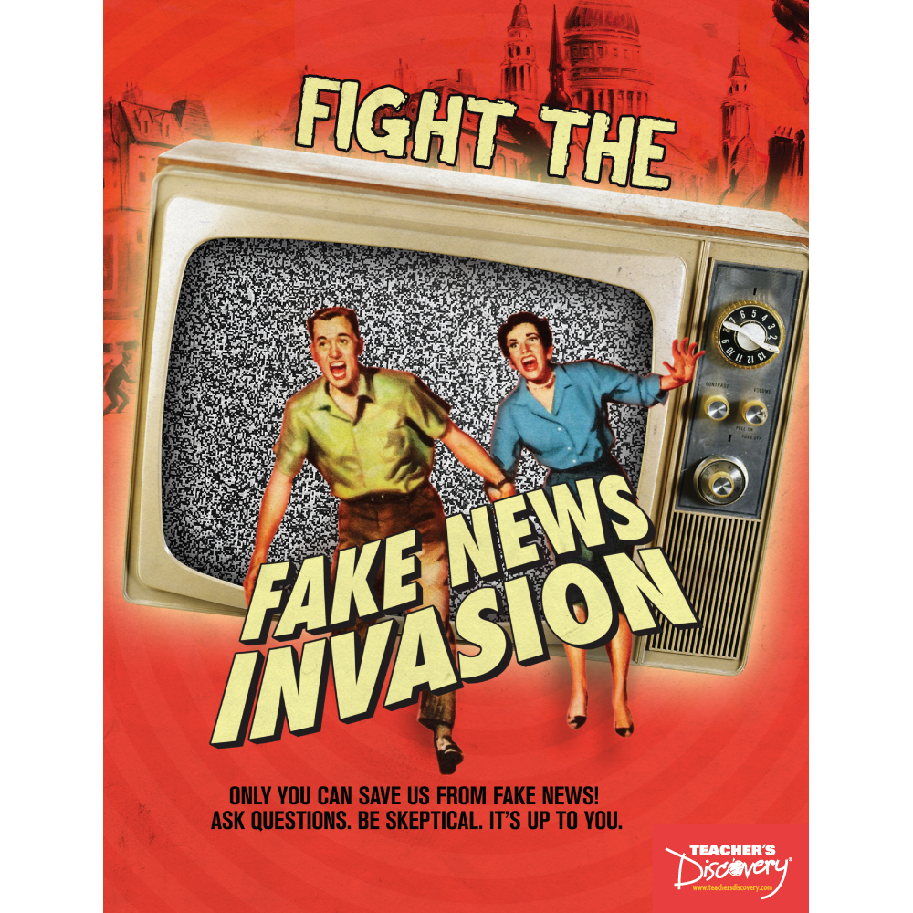 Fight the Fake News Invasion Book - Fighting Fake News in 10 Lessons Print Book