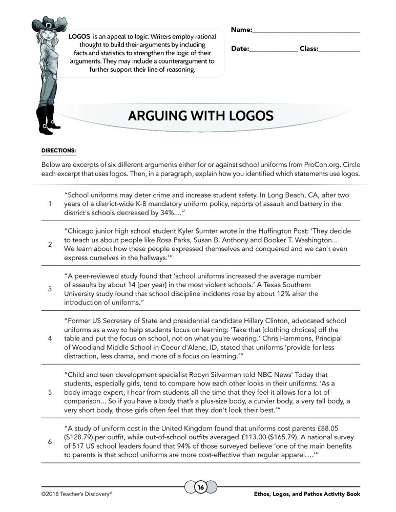 Ethos, Logos, and Pathos Print Activity Book and Poster Set