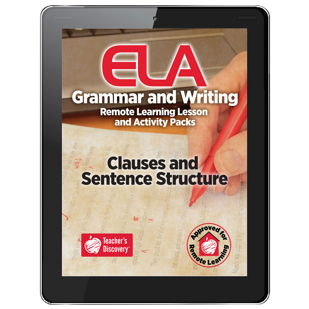Clauses and Sentence Structure Remote Learning Lesson and Activity Pack Download