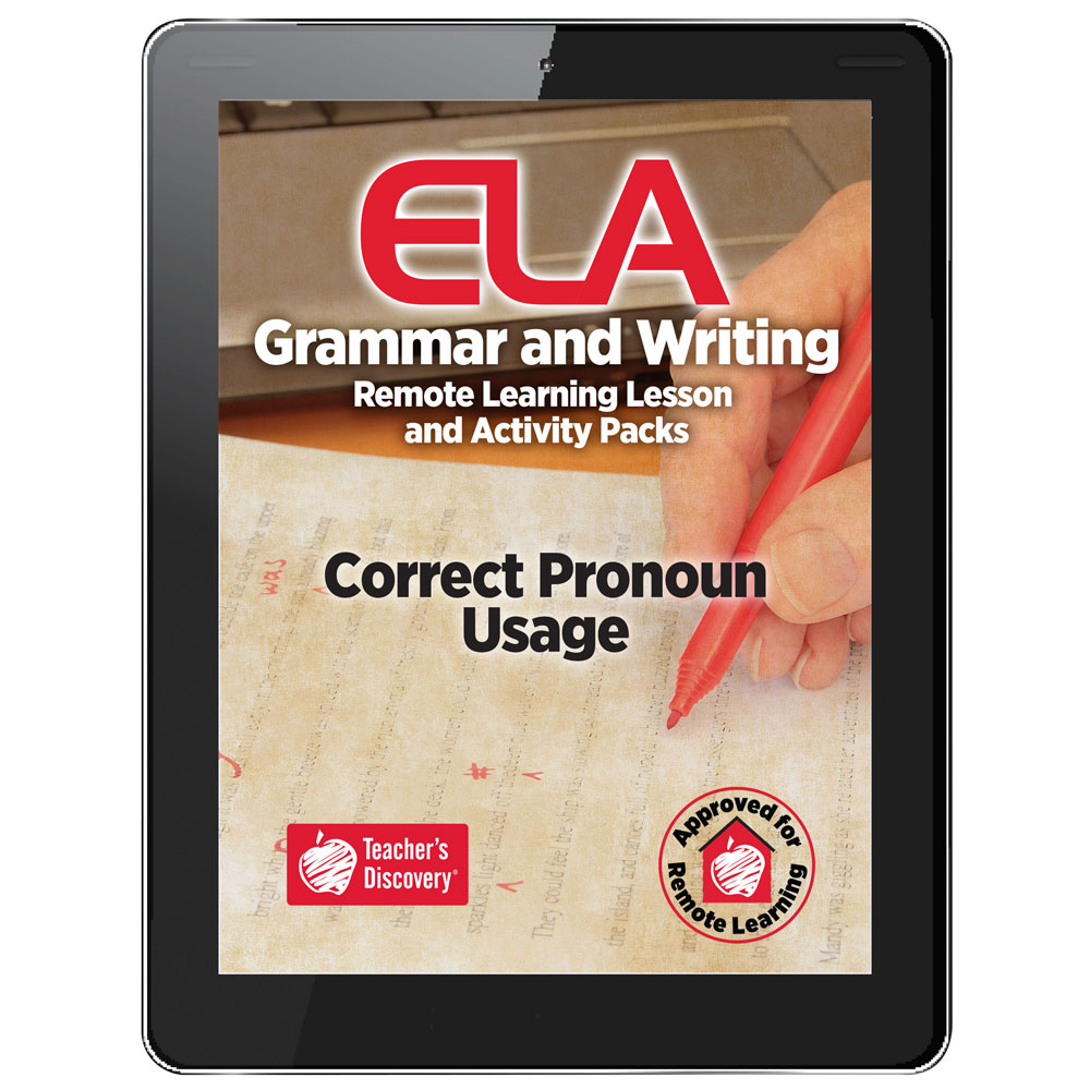 Correct Pronoun Usage Remote Learning Lesson and Activity Pack Download
