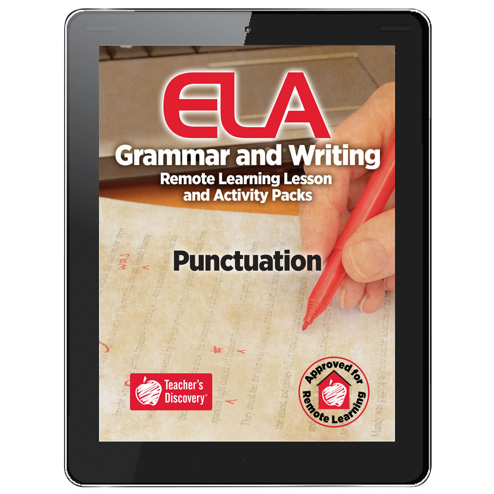 Punctuation Remote Learning Lesson and Activity Pack Download