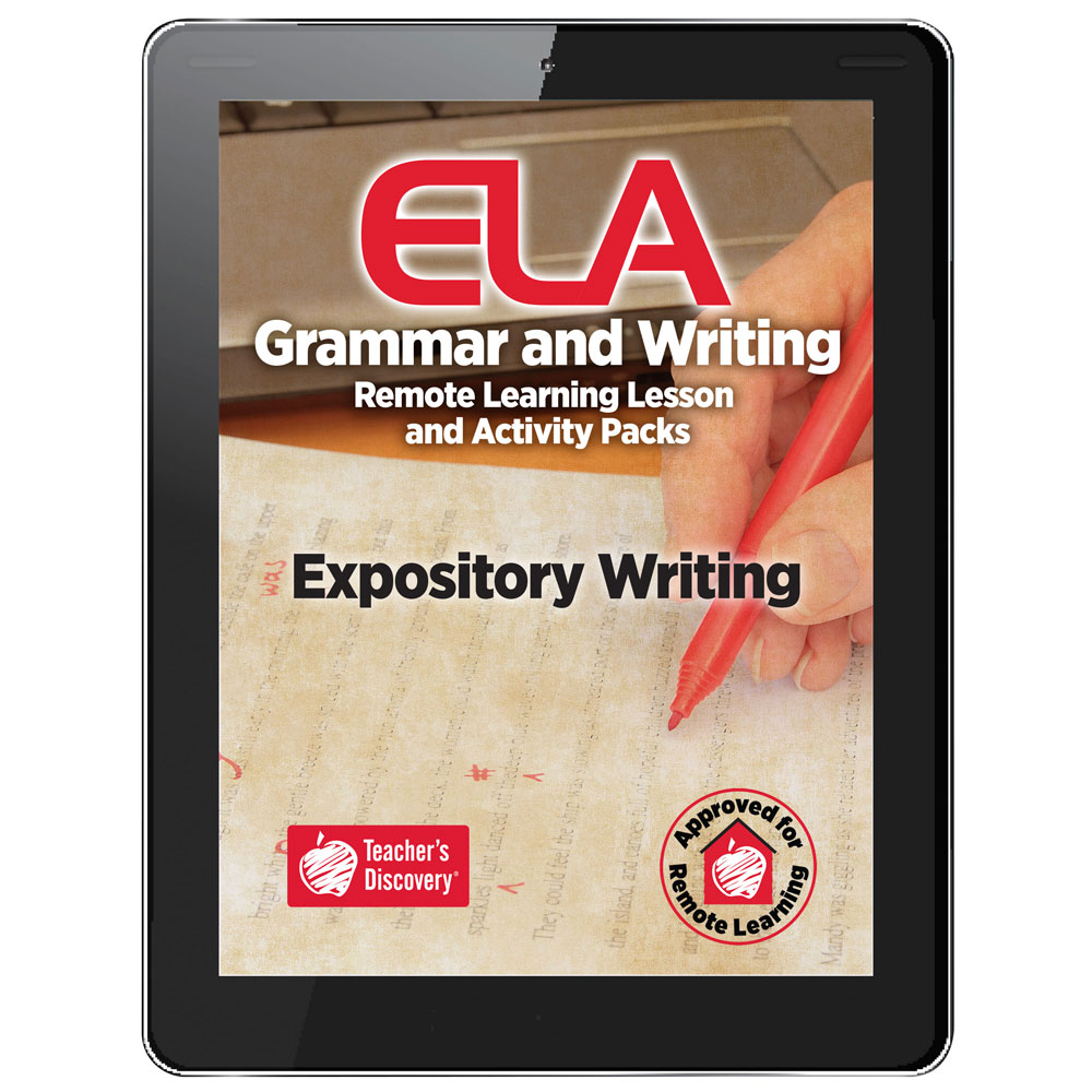 Expository Writing Remote Learning Lesson and Activity Pack Download