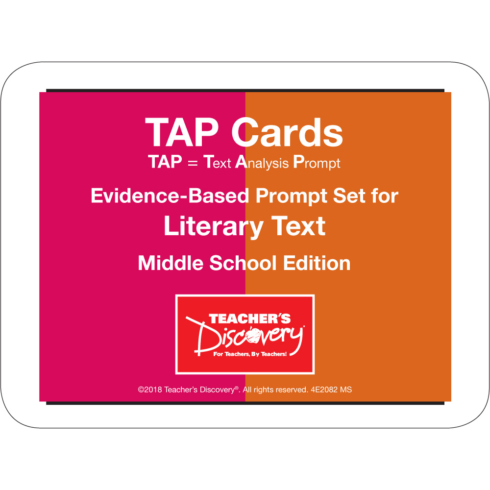 TAP Cards: Literary Text Card Set for Middle School