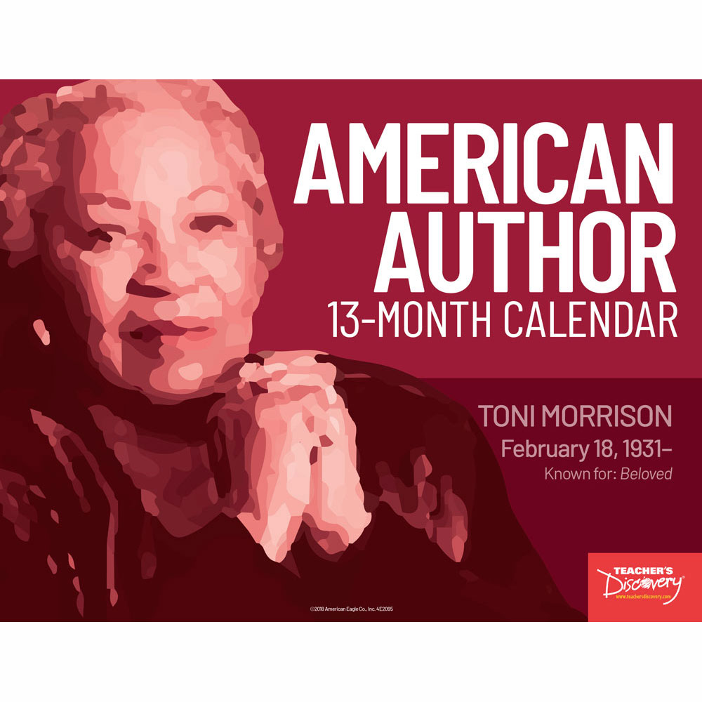 American Author 13-Month Calendar