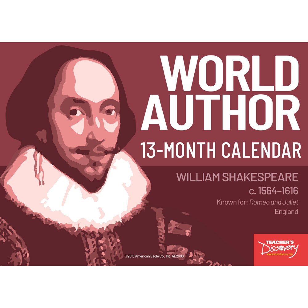 World Author 13-Month Calendar