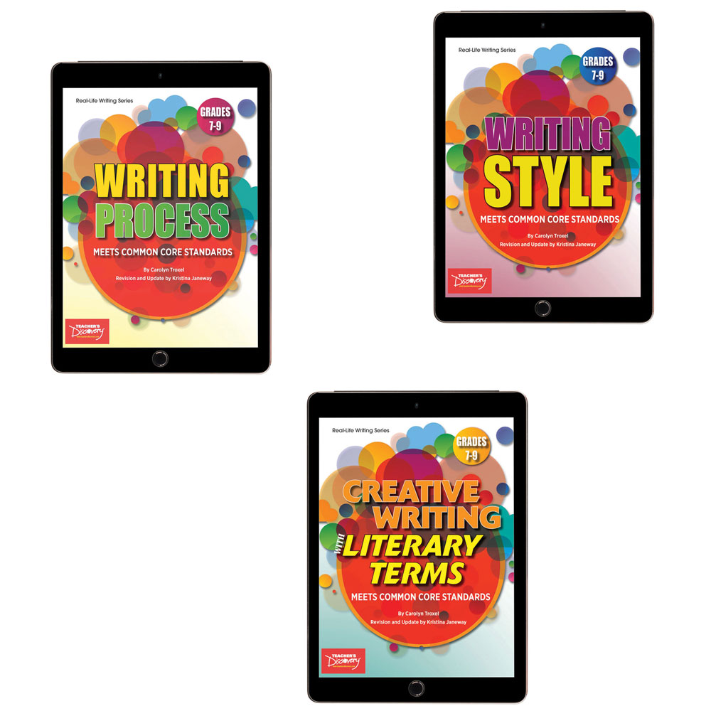 Creative Writing with Literary Terms, Writing Process, and Writing Style Activity Books Set  - Creative Writing with Literary Terms, Writing Process, and Writing Style Activity Books Set—Print Books