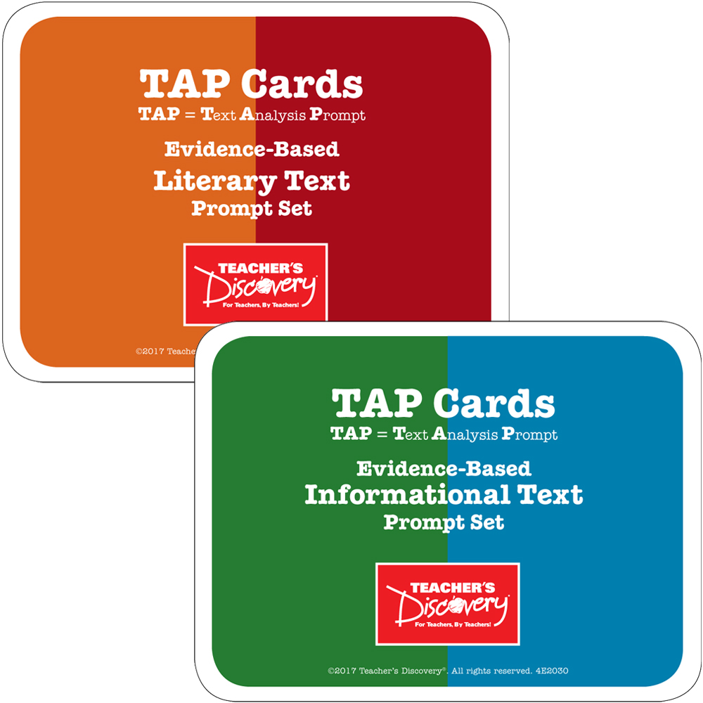 TAP Cards: Informational Text and Literary Text Card Sets for High School