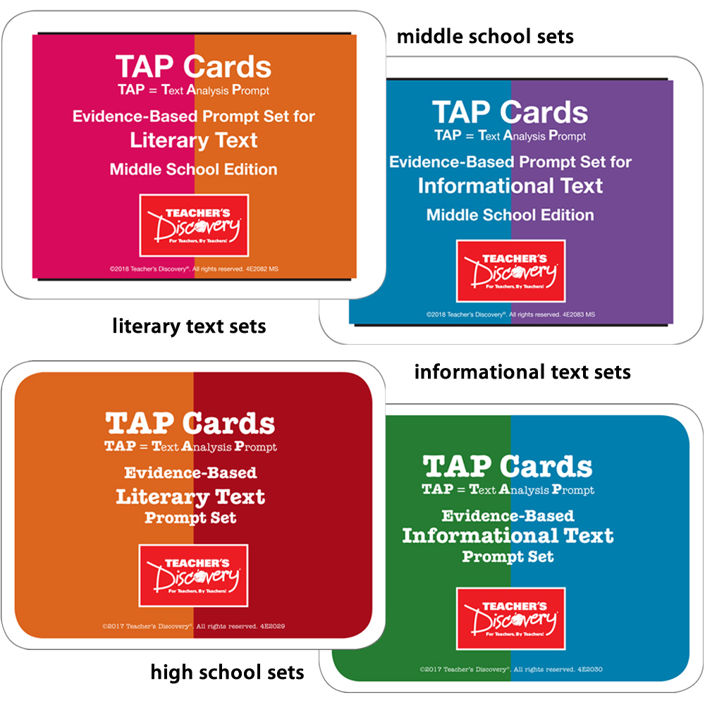 TAP Cards: Middle School and High School - All 4 Sets