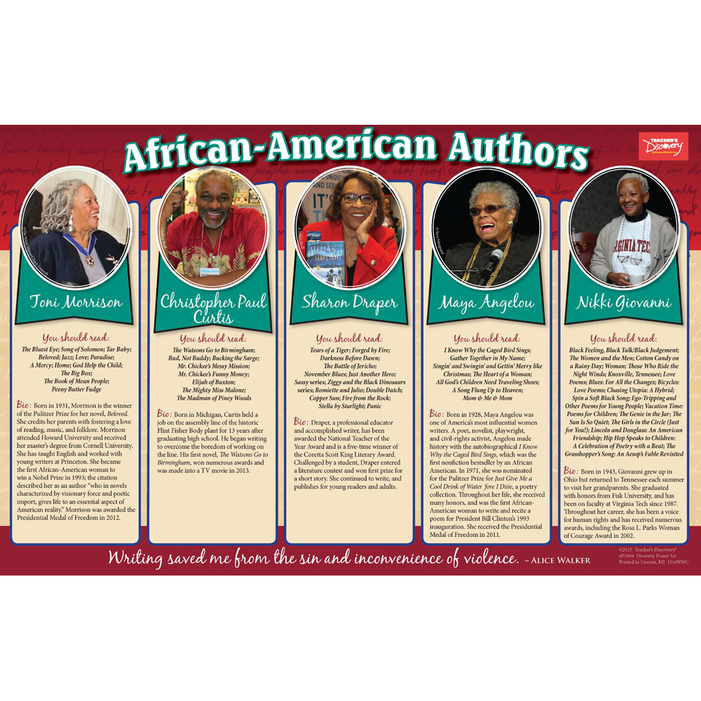 Diversity in Literature Poster Set - Author Diversity Poster Set