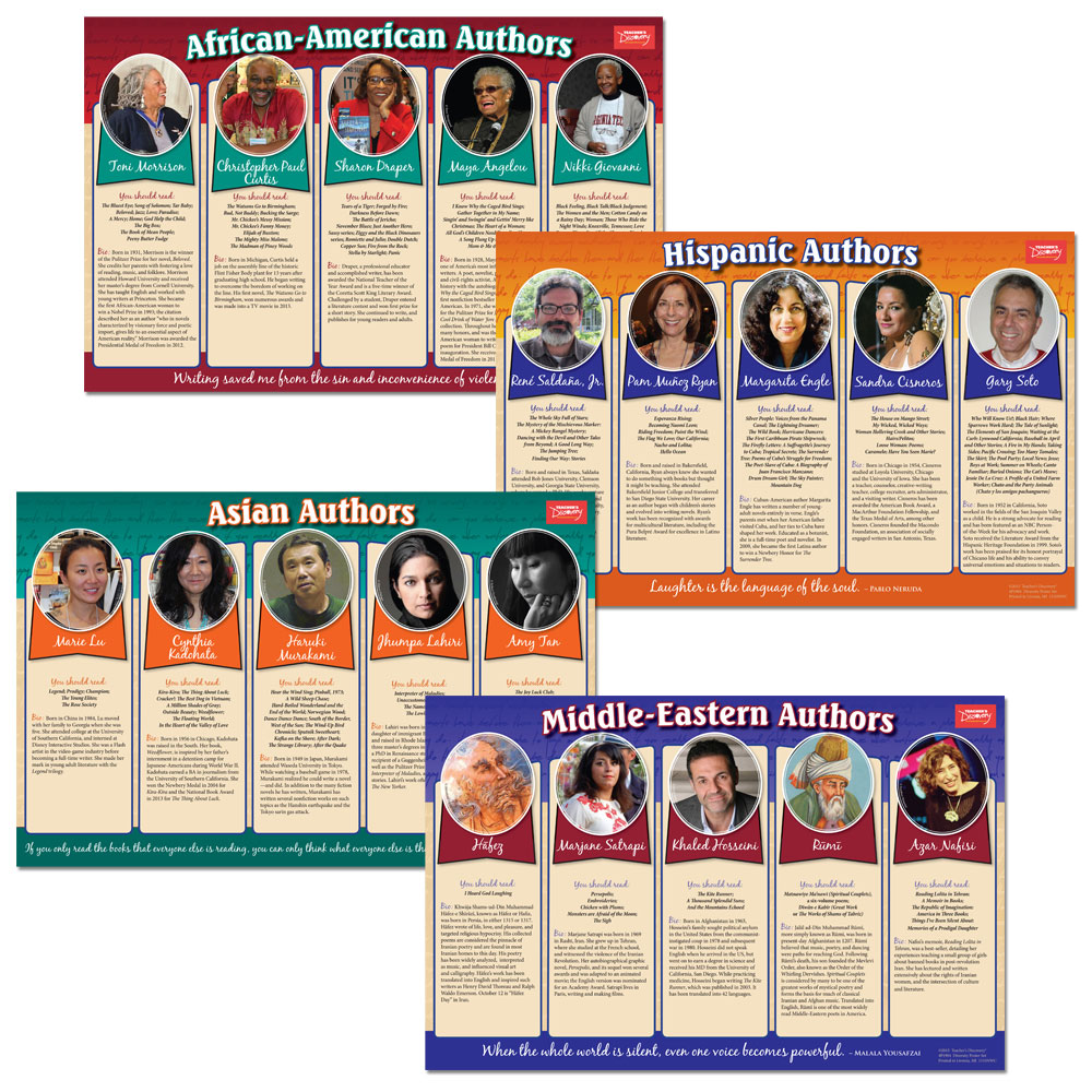 Diversity in Literature Poster Set - Diversity In Literature Poster Set Activity Packet Download