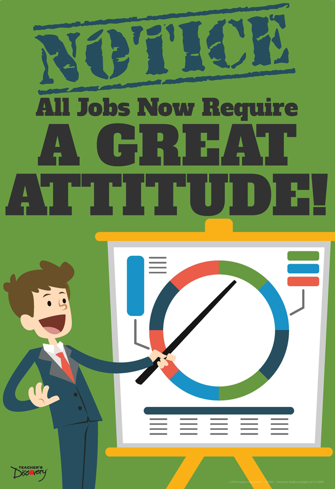 Official Notice Job Skills Mini-Poster:  Great Attitude