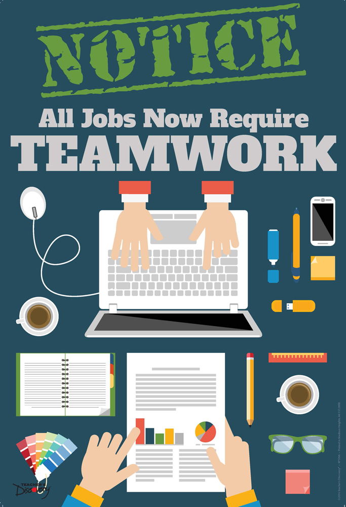 Official Notice Job Skills Poster:  Teamwork
