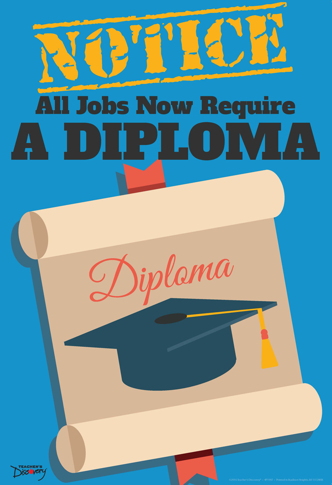 Official Notice Job Skills Mini-Poster:  A Diploma