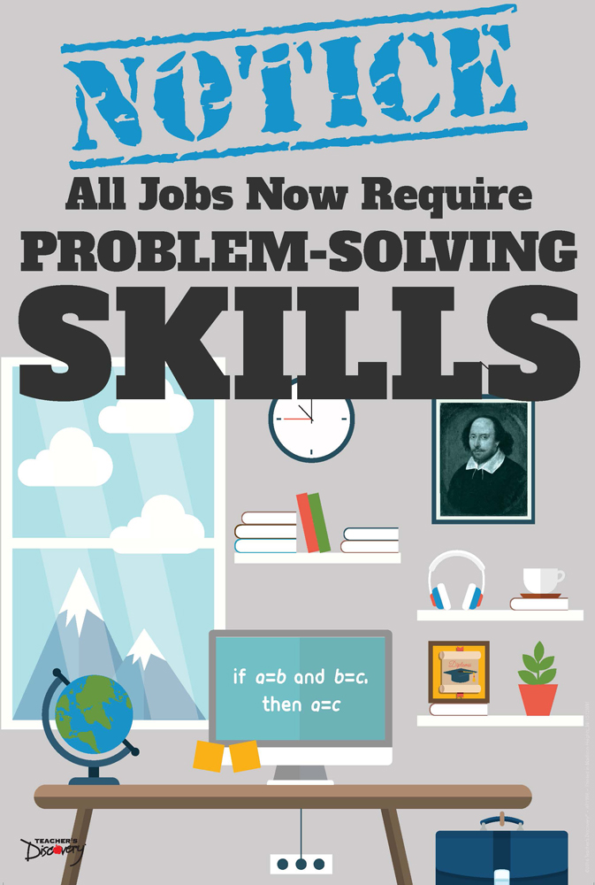 Official Notice Job Skills Mini-Poster:  Problem-Solving Skills