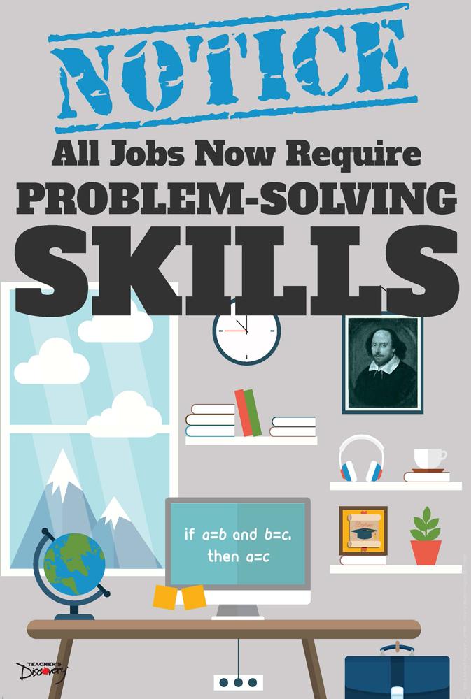 Official Notice Job Skills Mini-Poster:  Problem-Solving Skills