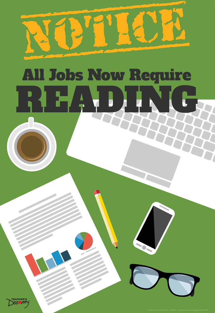 Official Notice Job Skills Mini-Poster:  Reading
