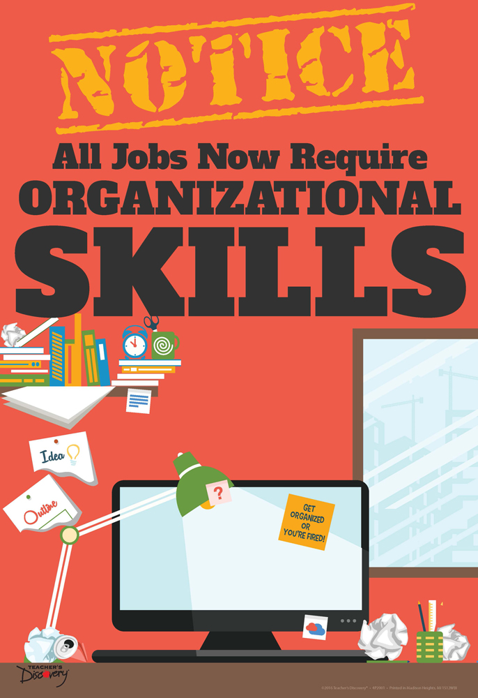 Official Notice Job Skills Mini-Poster:  Organizational Skills
