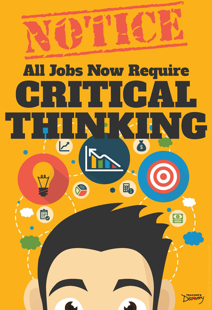 official notice job skills mini poster critical thinking