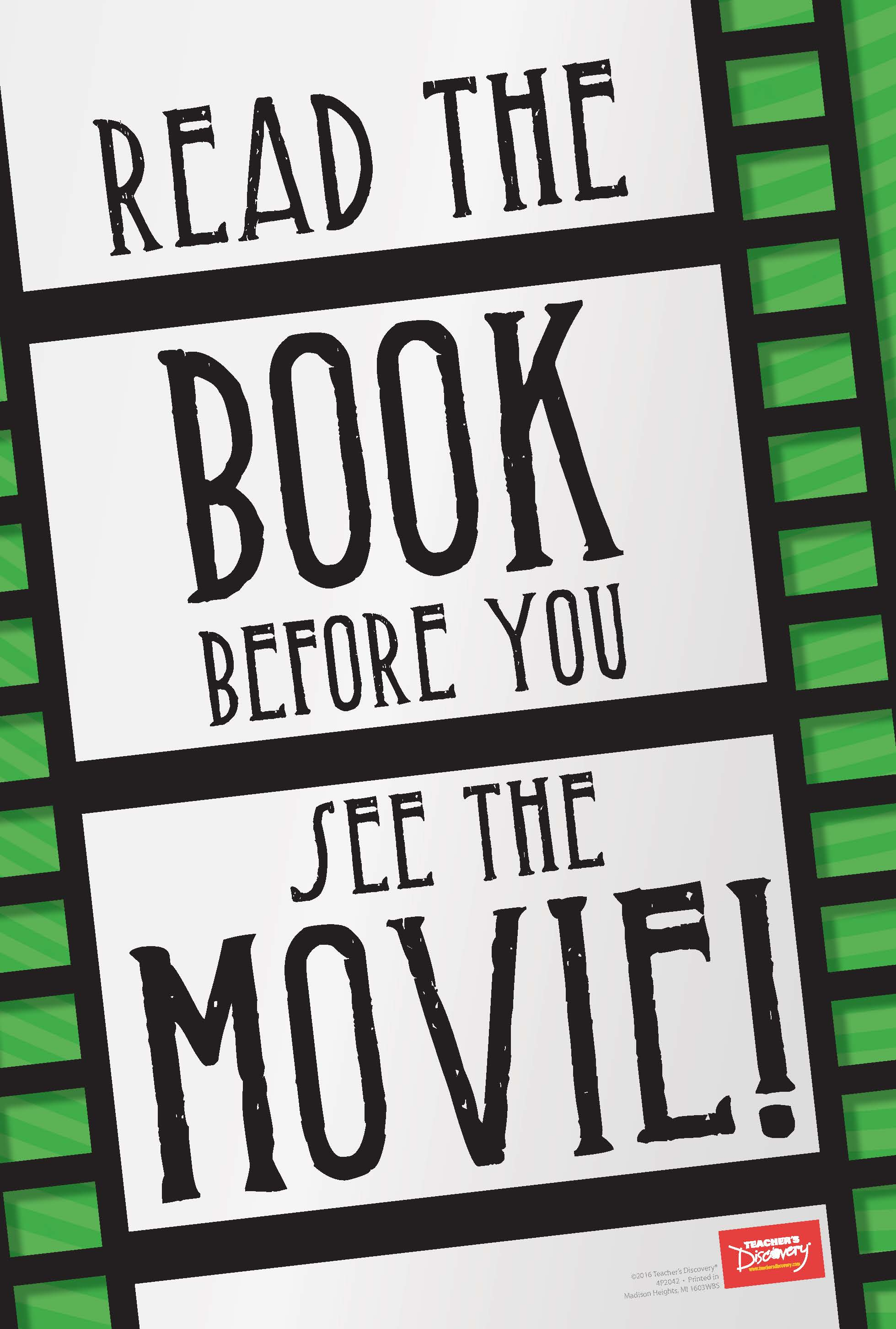 Read the Book Before You See the Movie! Mini-Poster