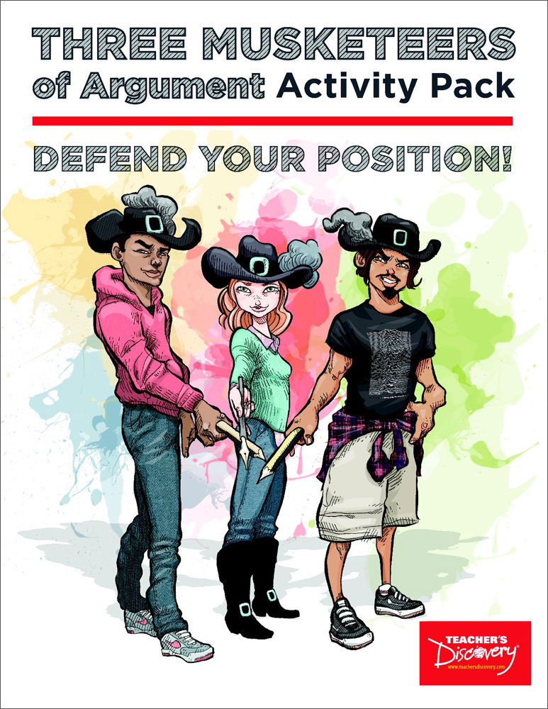 Three Musketeers of Argument Activity Pack