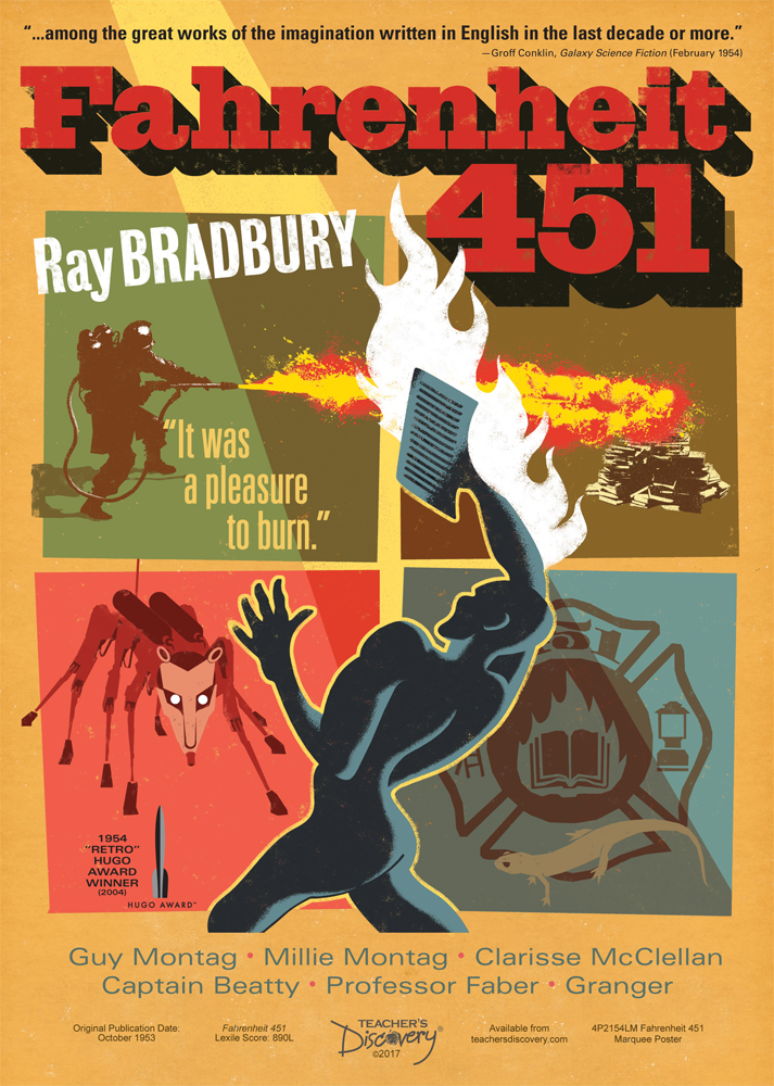 Fahrenheit 451 Marquee Poster