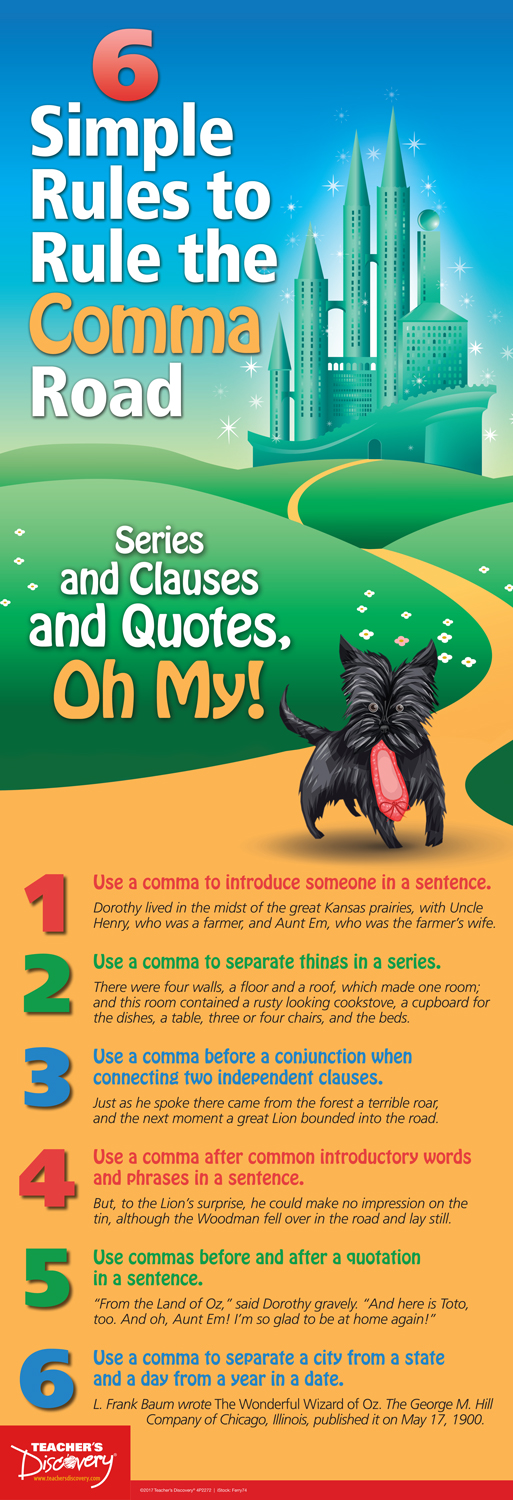 6 Simple Rules to Rule the Comma Road Poster