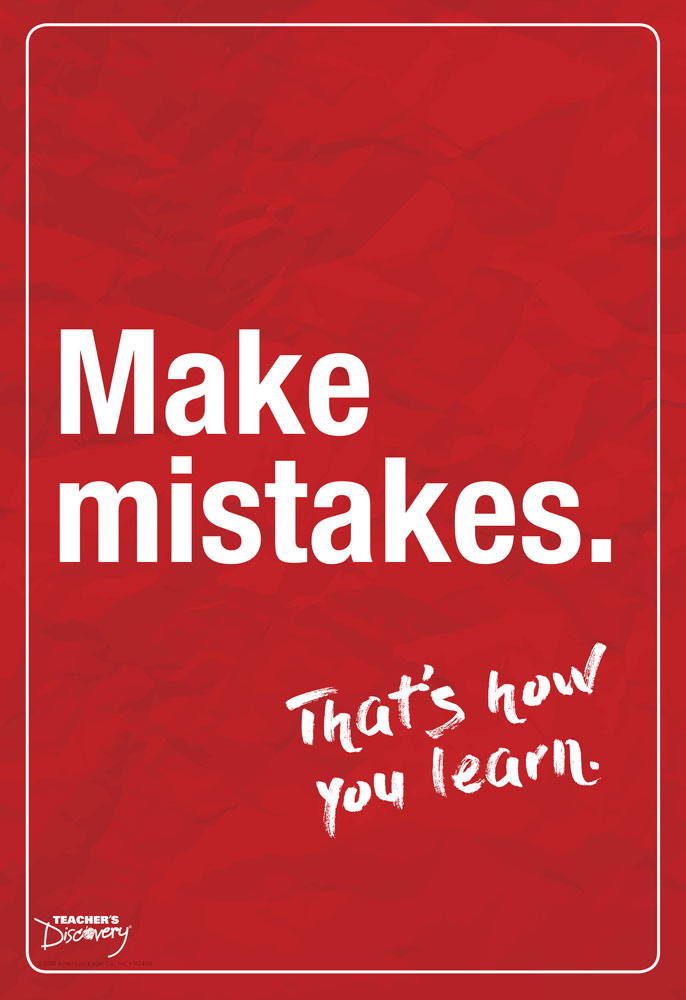 Make Mistakes English Mini-Poster