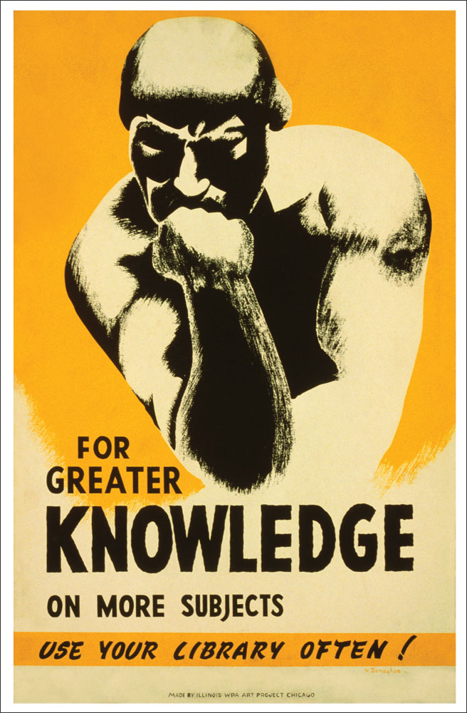 WPA Reading Poster: Use Your Library More Often