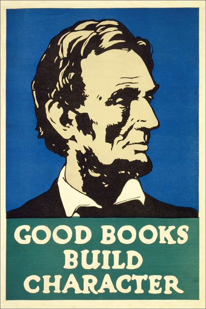 WPA Reading Poster: Good Books Build Character
