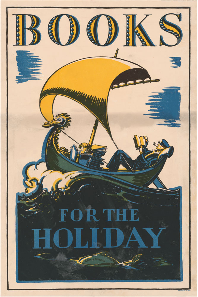 WPA Reading Poster: Books for the Holiday