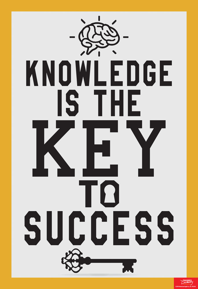 Knowledge Is the Key to Success Mini-Poster