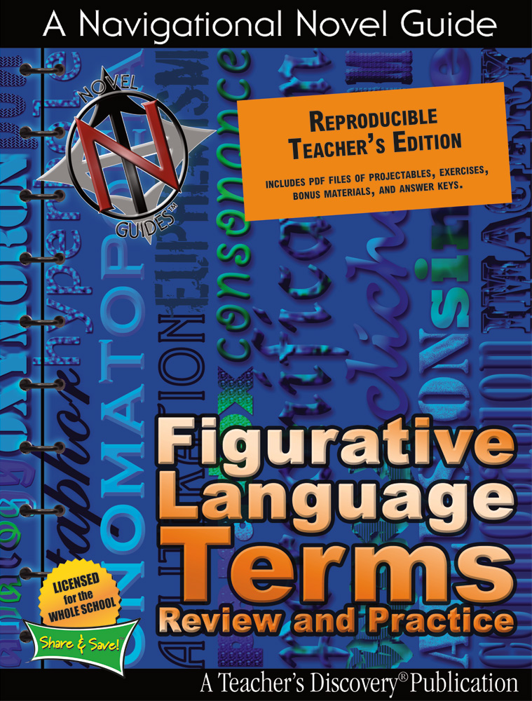 Figurative Language Terms Review and Practice Book - Figurative Language Terms Review and Practice Teacher's Edition Print Book