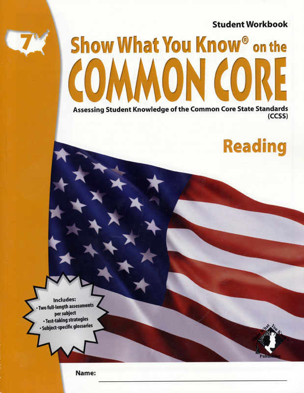 Show What You Know Common Core Student Workbook & Teacher's Guide Grade 7